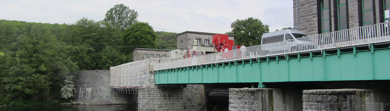 Sauganlage auf Brücke
